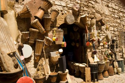 Music shop in Essaouira
