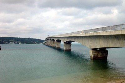 Kouri Bridge, a view from Yagaji Island