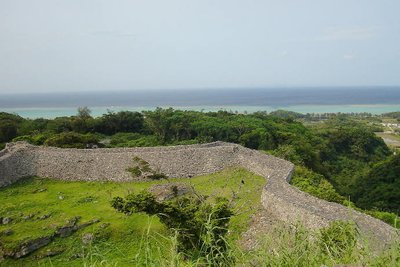 Stone wall and the East China Sea