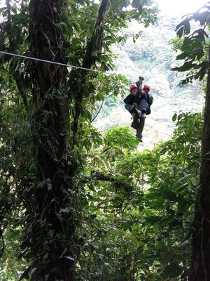 Jocelyn on a Zip Line