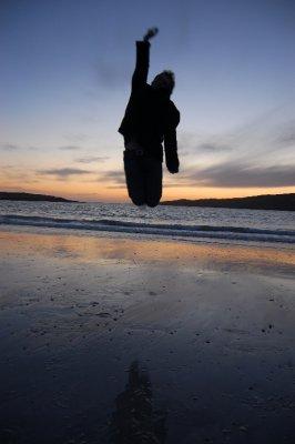 Jumping sunset