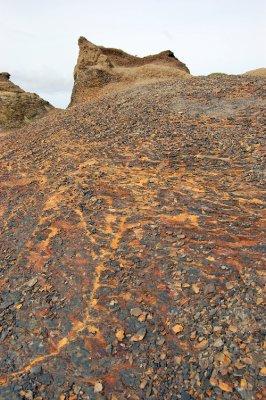 Textured rock from below