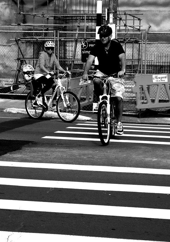bikes on zebra