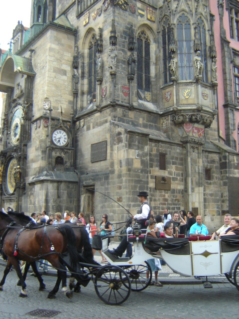 old town hall and carriage