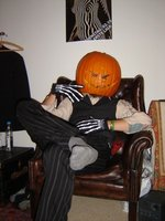 Pumpkin King on throne