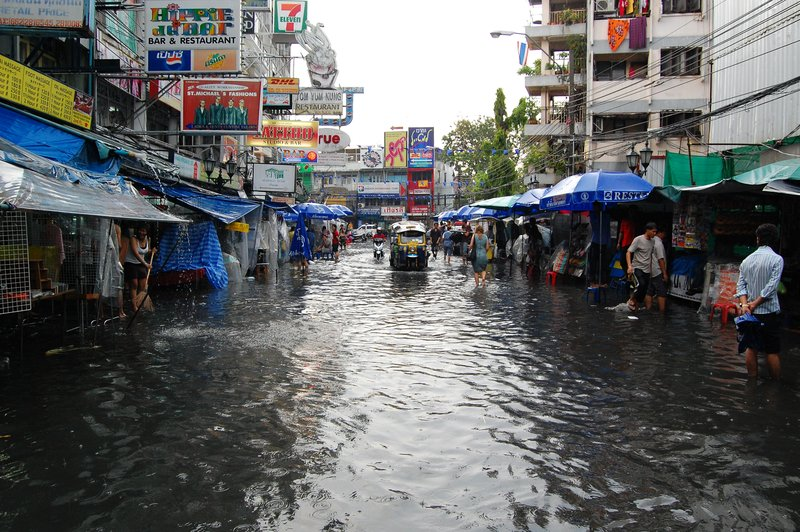 Khao San Road Flooded