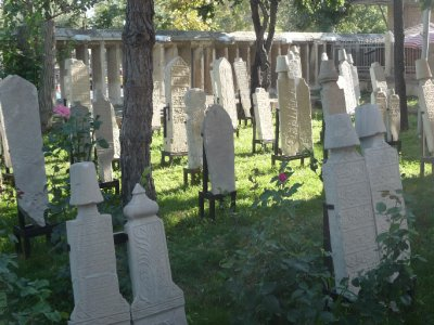 Gravestones of members of the whirling dervishes sect