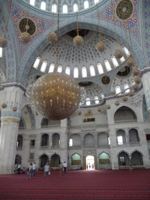 Inside Kocatepe Mosque