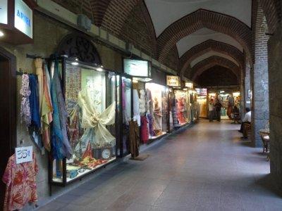 Inside the silk bazaar in Bursa
