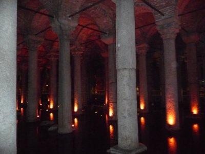 In the Basillica Cistern