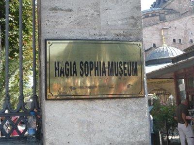 In Hagia Sophia