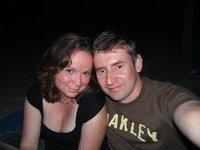 On the beach in the dark