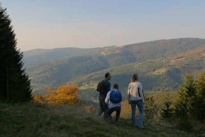 walking in the Beskidy-mountains