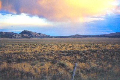 Rain clouds in Nevada Desert