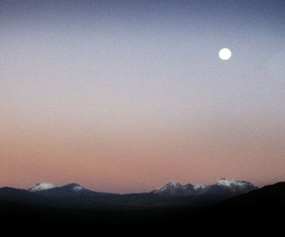 andes sunrise full moon