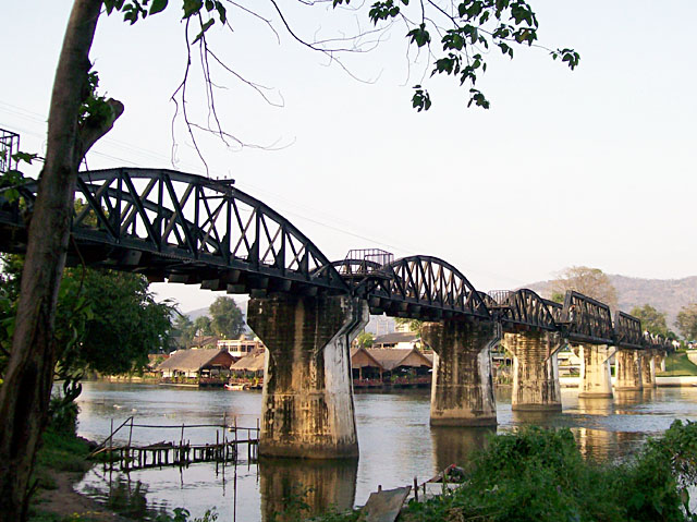 Kanchanaburi - Bridge over river Kwai