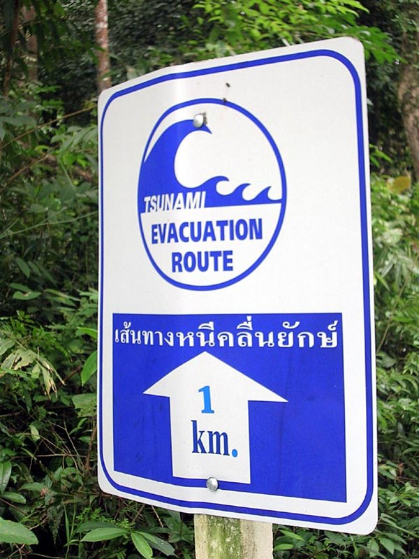 KHAO LAK TSUNAMI WARNING