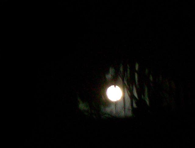 koh lanta full moon from shower
