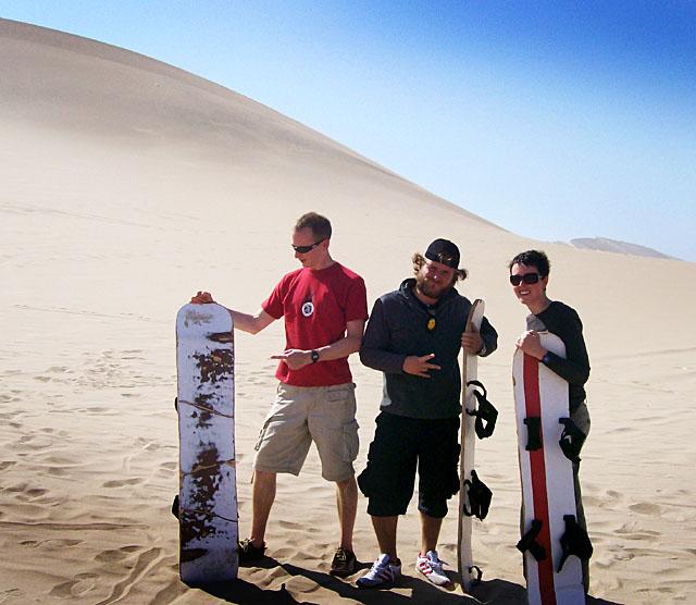 Ica desert  sandboarding