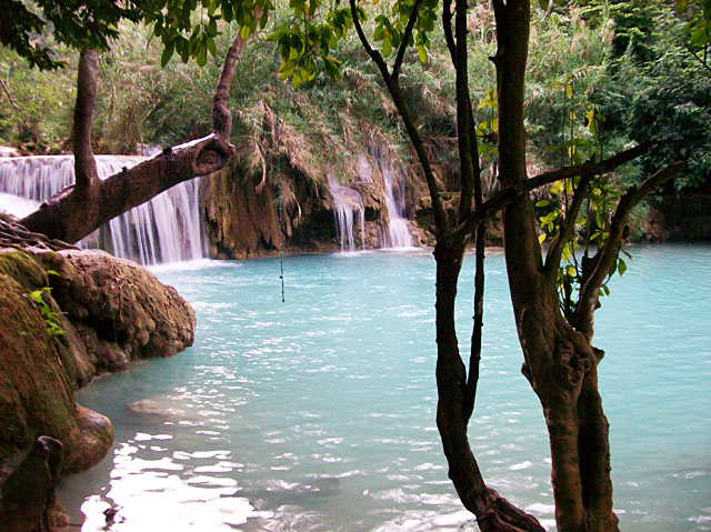 Tad Sae waterfall - swimming pool