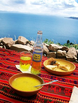 Tequile quinoa soup inca cola