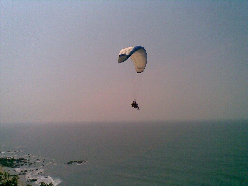 Paragliding over Arabian Sea in Goa