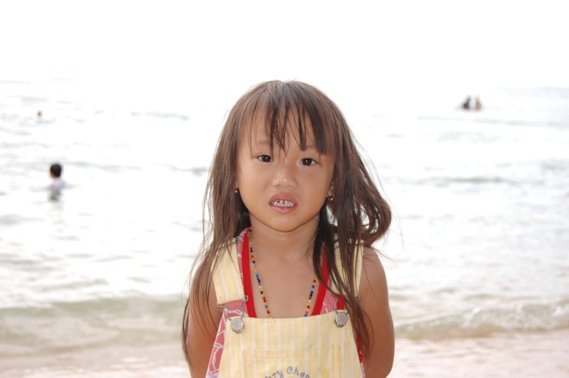 Cute Baby by the beach