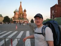 Steve C arrives in Red Square