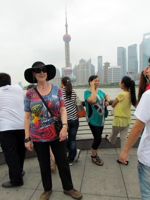 Pudong Skyline with Celina