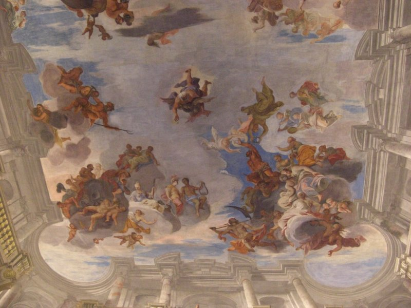 Frescoed Ceiling in Palais Liechstenstein Vienna