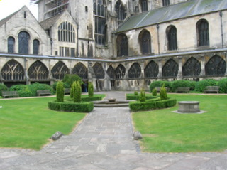 Gloucester Cathedral Courtyard