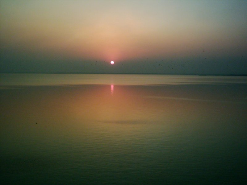 Sun set at tunga bhadra dam