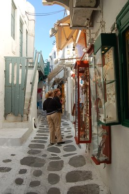 Store Front of Mykonos Town