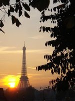 paris eiffel sunset