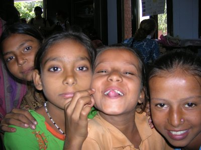 Kids at the voactional school