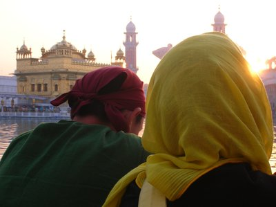 Nate and Amber at the Golden Temple