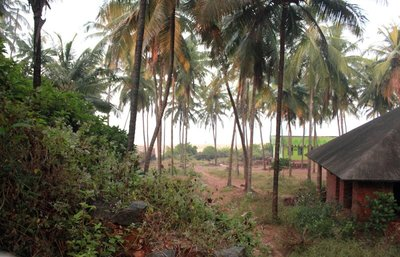 View of the Arabian sea from a resort inear Bekal fortl