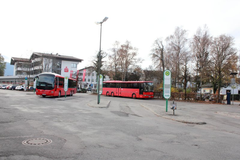 Bus Stand at Prien am chimesee