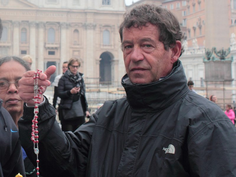 Rosary seller in St. Peter's Square