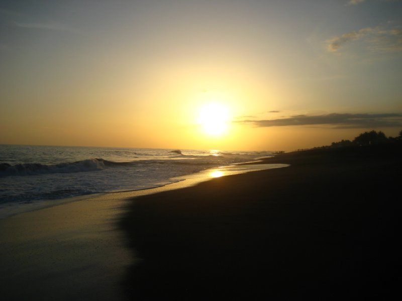 Monterrico Black Beach Sunset