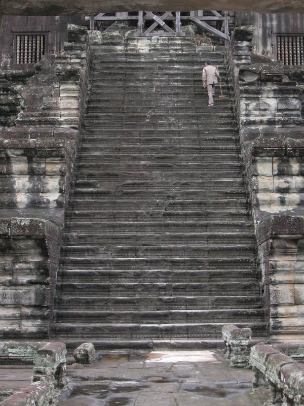 Up to the top of Angkor Wat