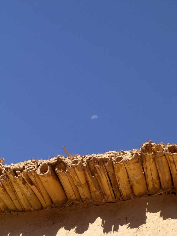 THe moon in sunshine during Ramadan