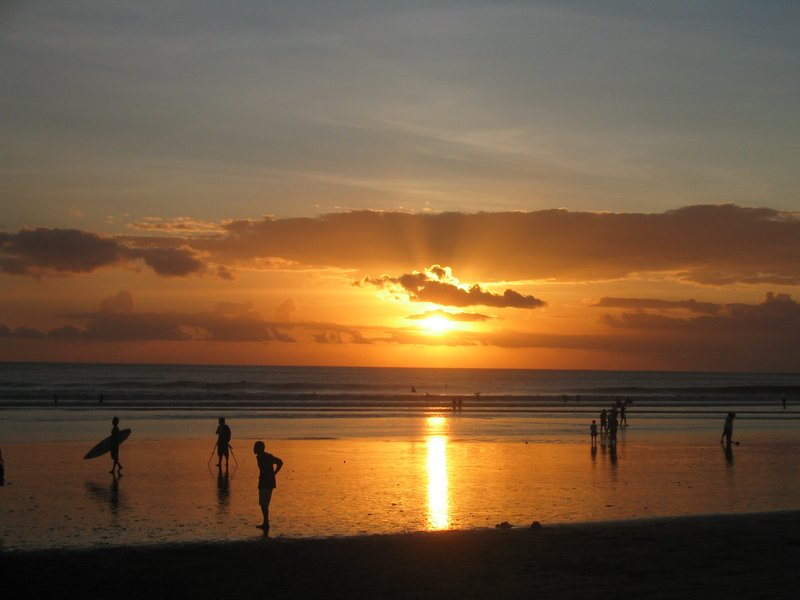 Bali - Surfed the surf till sunset