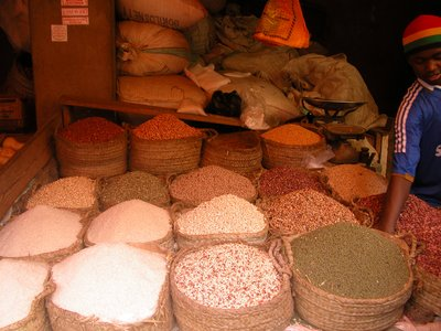 Cereal Shop in Town Square Market - Lamu Town
