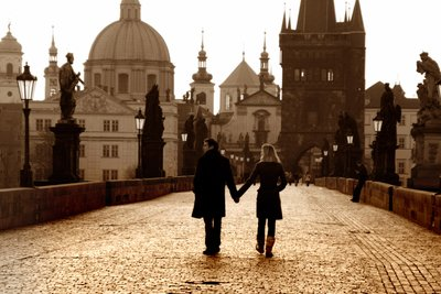 Dawn stroll on Charles Bridge