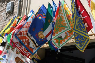 Regional Flags in Siena.