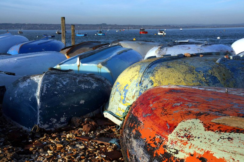 Boats beached for the Winter