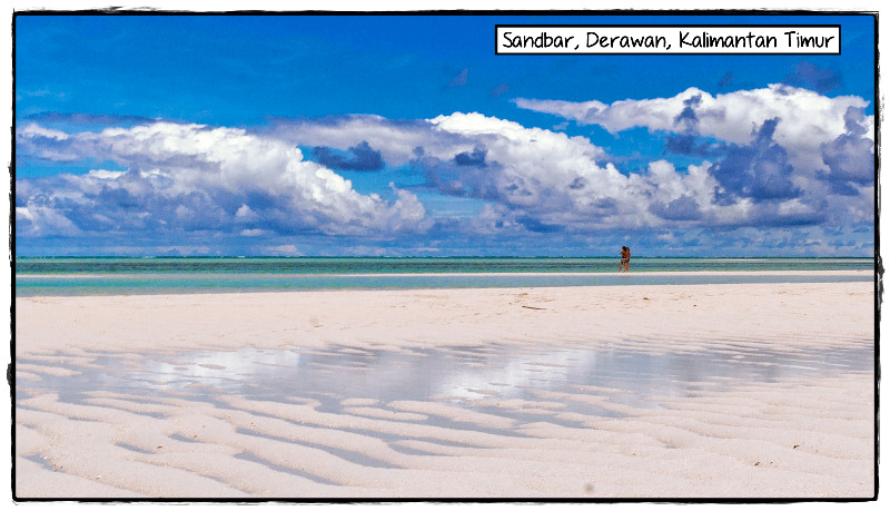Sandbar and Clouds, Derawan Archipelago