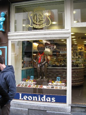 Chocolate replica of the Manneken Pis, Brussels