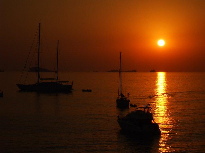 Eerie Ibiza Sunset